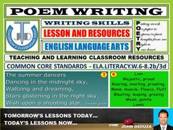 POEM WRITING : LESSON AND RESOURCES