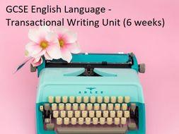 GCSE English Language Transactional Writing Scheme of Work