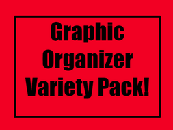 Graphic Organizer Templates | Free Graphic Organizer Variety Pack With 7 Editable Templates By