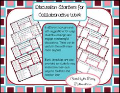 Discussion Starters for Collaborative Work