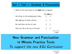 grammar and punctuation 10 minute tests 10 tests in each unit by mrcbirch teaching resources. Black Bedroom Furniture Sets. Home Design Ideas