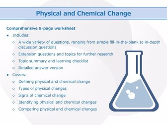 Physical and Chemical Change [Worksheet]