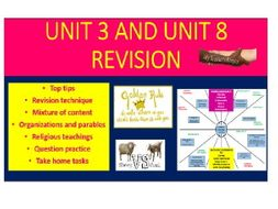 Edexcel Unit 3 and Unit 8 Revision PowerPoint and activities.