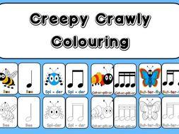 Creepy Crawly Colouring  In