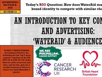 EDUQAS AS MEDIA, YEAR 12- ADVERTISING & MARKETING, 'WATERAID': AUDIENCE (COMP 1 SEC B)