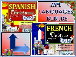 MFL French Spanish Christmas BUNDLE