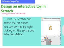 We are Toy Designers - Year 4 Computer Programming