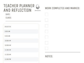 Stress Less Lesson Planner/Reflection