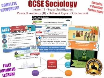 Power & Authority (II) - Social Stratification -L11/20 [ AQA GCSE Sociology - 8192]