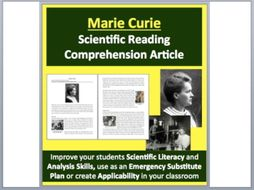 Marie Curie - A Famous Scientist Reading