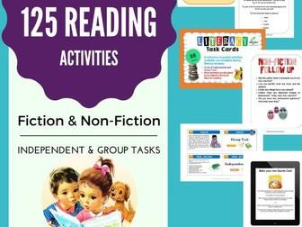 125 Reading Activities Bundle