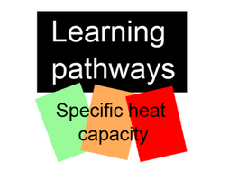 Specific heat capacity differentiated worksheet
