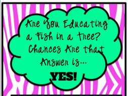 Professional Development Book Study -- Are You Educating a Fish in a Tree?