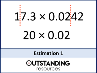 Estimation 1 - An Introduction and basic calculations (+ worksheet)
