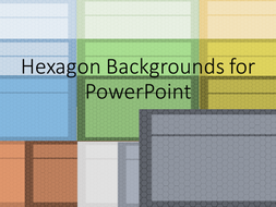 Hexagon Backgrounds for PowerPoint