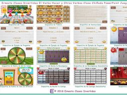 Do versus Make or Hacer Kooky Class Spanish PowerPoint Game-An Original by Ernesto