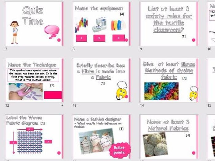 image relating to Printable Textiles called GCSE TEXTILES Check REVISION QUIZ - Printable scholar sheets - matter encounter - Complete LESSON