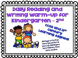 Daily Reading and Writing Warm-Up for Kindergarten – 2nd