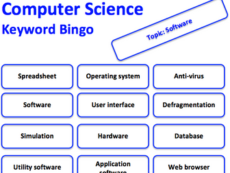 Computer Science keyword bingo game (Software)