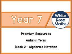 Year 7 - Algebraic Notation