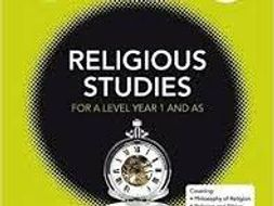 A level OCR Religious Studies 2018: COMPLETE PHILOSOPHY REVISION NOTES PACK!