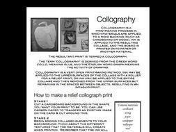 How to make a collograph