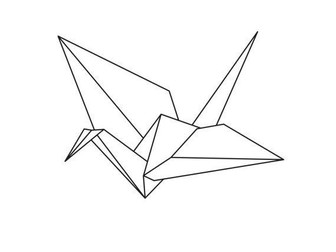 Easy Origami Dove Printable Instructions | Tangram Puzzle Pictures | 252x336