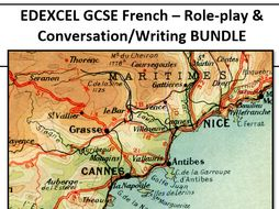 EDEXCEL GCSE French - Role play & Conversation/Writing pack