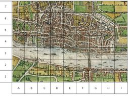 Great Fire Of London Map.Map Of London 1666 Great Fire Of London Grid Work Of Main Sites By