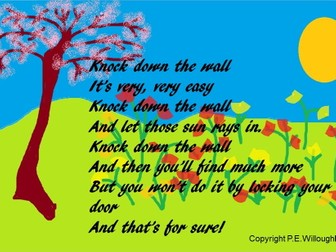 Song for Assembly. Knock down the wall. Based on The Selfish Giant - Video PPT MP3