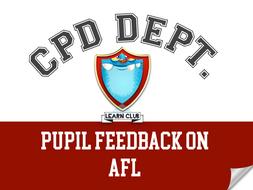 CPD - Pupil Feedback on AfL