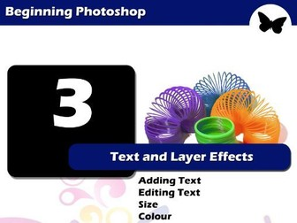 Beginning Photoshop – Text and Layer Effects
