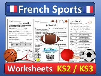 Sports in French (Les Sports) Worksheets
