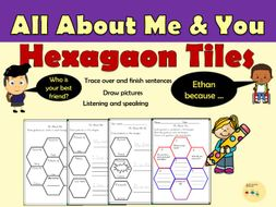 All About Me/You Questions in Hexagonal Shapes Back To School