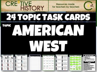 American West GCSE History Topic Cards