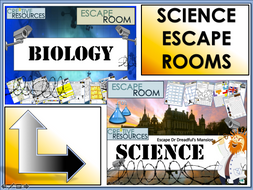 Biology and Science Escape Rooms