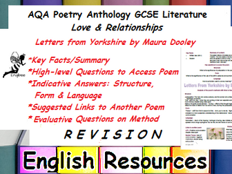 Letters from Yorkshire Revision