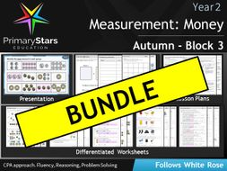 YEAR 2 - White Rose - Measure: Money - Block 3 Unit- Autumn BUNDLE