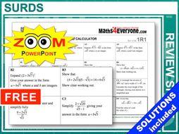 GCSE Revision (Surds)