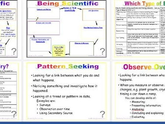 Being Scientific: Working Scientifically in Enquiry and Investigation - Enquiry Types editable
