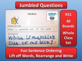 Jumbled Sentences (Questions) KS1