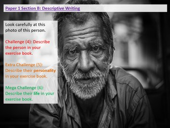Paper 1 Section B: AQA: Descriptive Writing