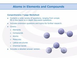 atoms in elements and compounds worksheet by goodscienceworksheets teaching resources tes. Black Bedroom Furniture Sets. Home Design Ideas