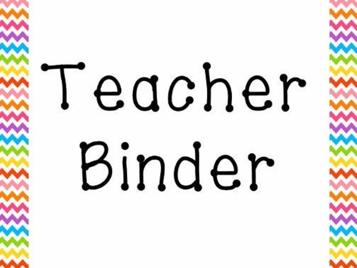photo regarding Teacher Binder Printables named Trainer Binder Organiser Planner Dividers and Varieties Printable Rainbow ZigZag
