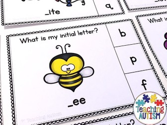 Spring Initial Letter Task Cards