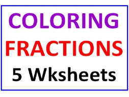 Coloring Fractions 5 Worksheets