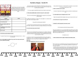 The Birth of Empire - The East India Company Episode 1  Worksheet to support the BBC Documentary