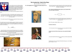 The Crusades -Ep2- Clash of Titans - Worksheet to support the BBC TV Doc with Thomas Asbridge