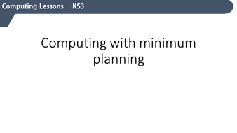 KS3 Computing - without the planning