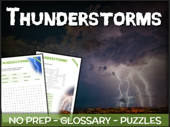 Thunderstorms - Puzzles & Glossary